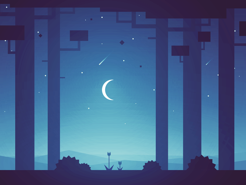 Nighty Night Landscape Illustration What Is Landscape Architecture Landscape