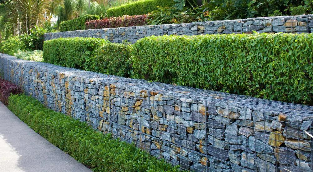 50 Backyard Retaining Wall Ideas And Terraced Gardens Photos Gabion Wall Backyard Retaining Walls Gabion Retaining Wall