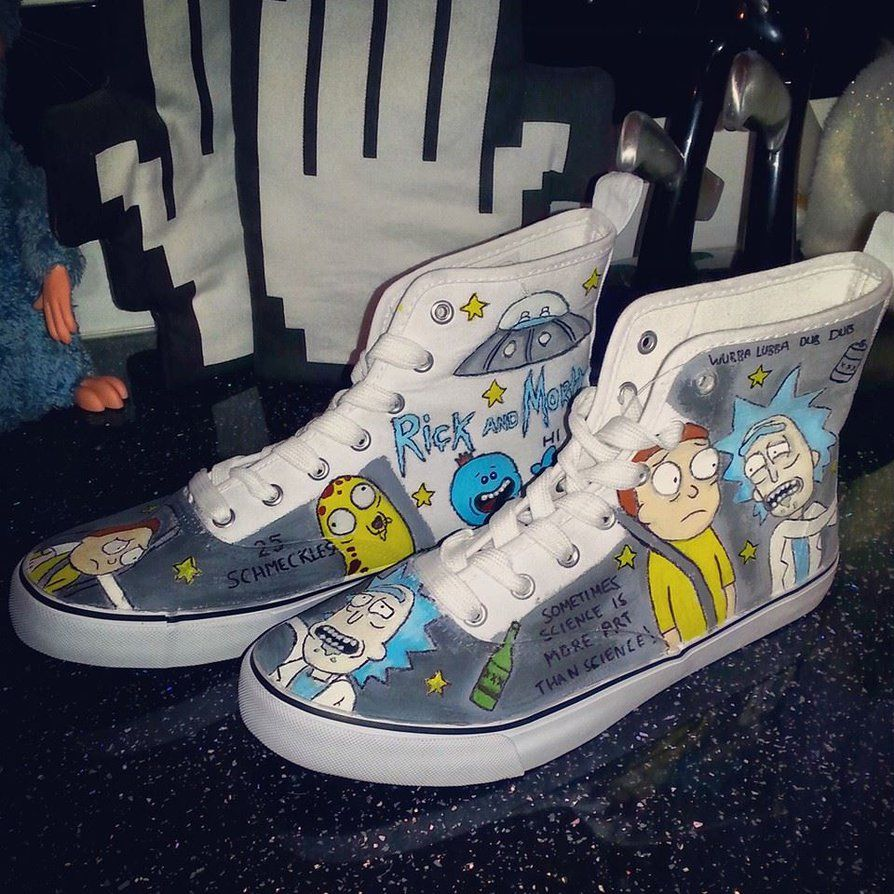 8b88c9440c42 Rick and Morty Shoes by Lozyface