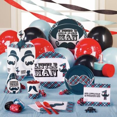 Little Man Mustache 1st Birthday party suppliesThis is gonna be