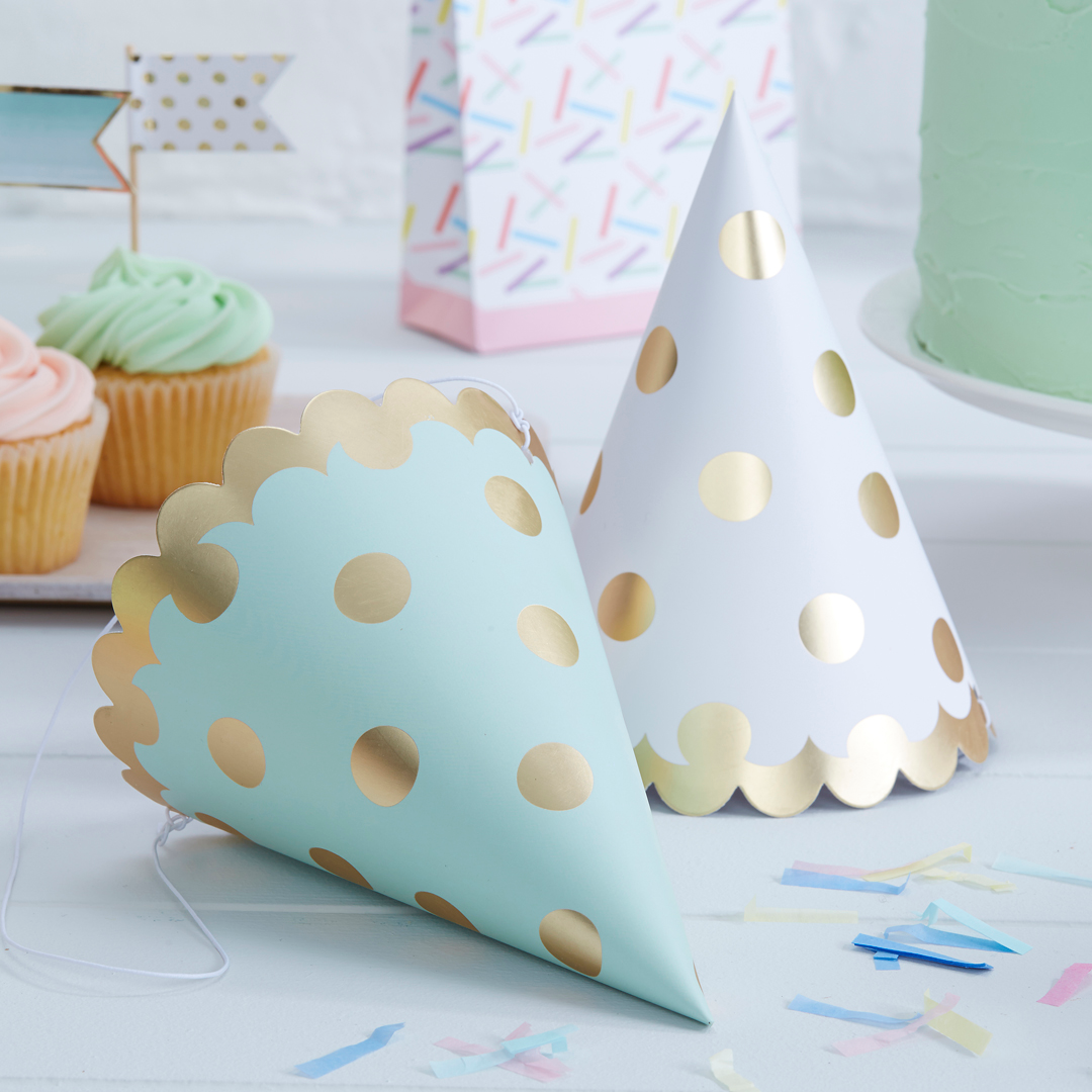 Polka Dot Paper Hats From PartyDelightscouk