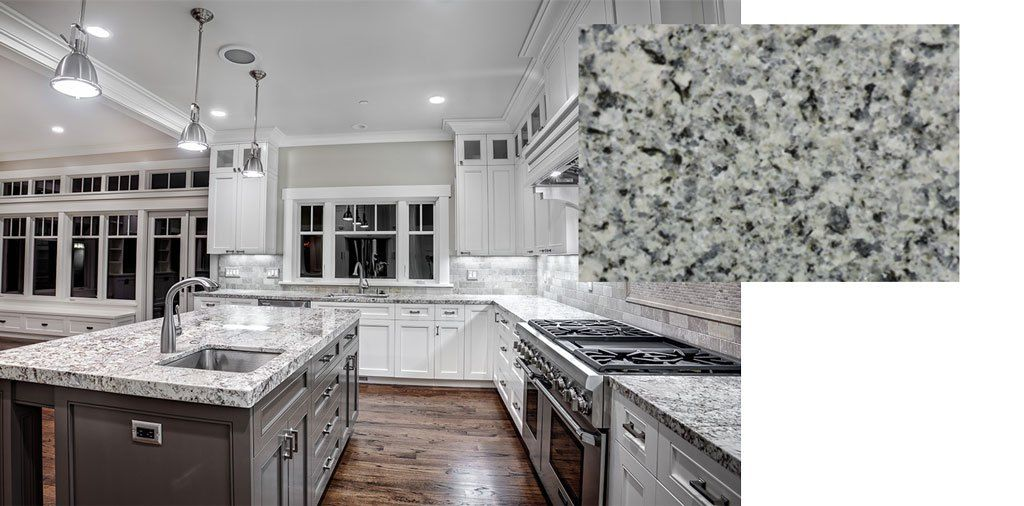 Azul Platino Granite Countertops For Grey Cabinets New