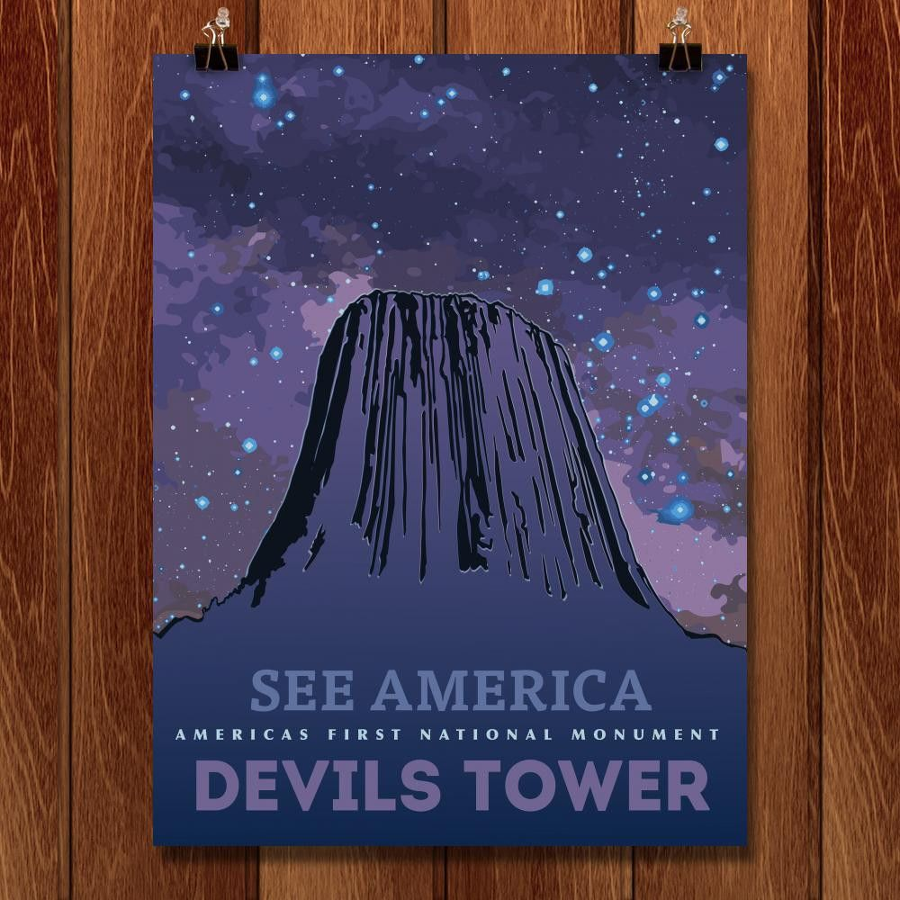 Devils Tower National Monument by Eric Roche