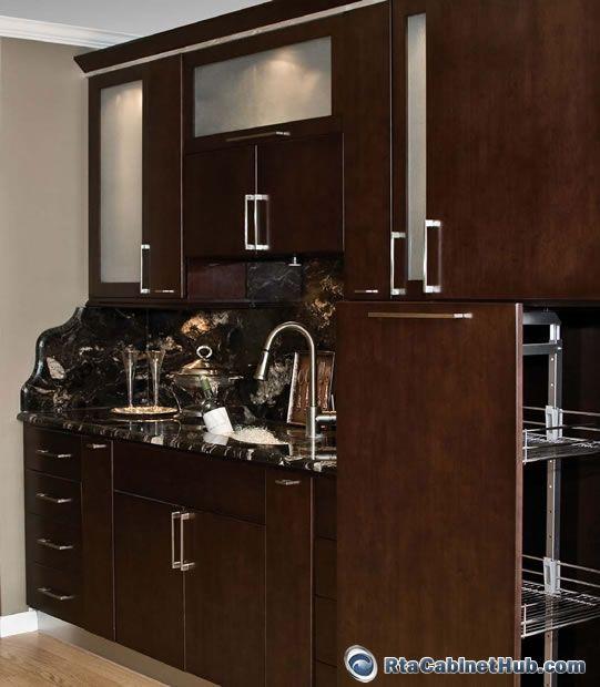 Tribecca Flat Panel Rta Cabinets Assembled Kitchen Cabinets