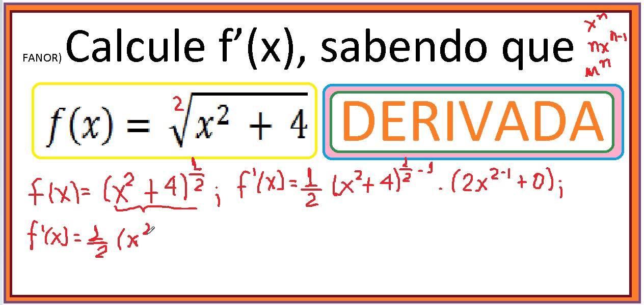 Curso De Calculo I Diferencial E Integral Como Calcular A Derivada
