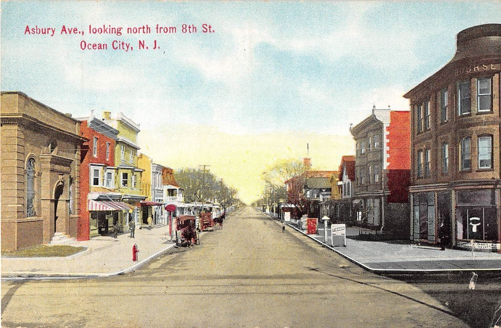 Ocean City New Jersey Asbury Avenue Looking North From 8th St