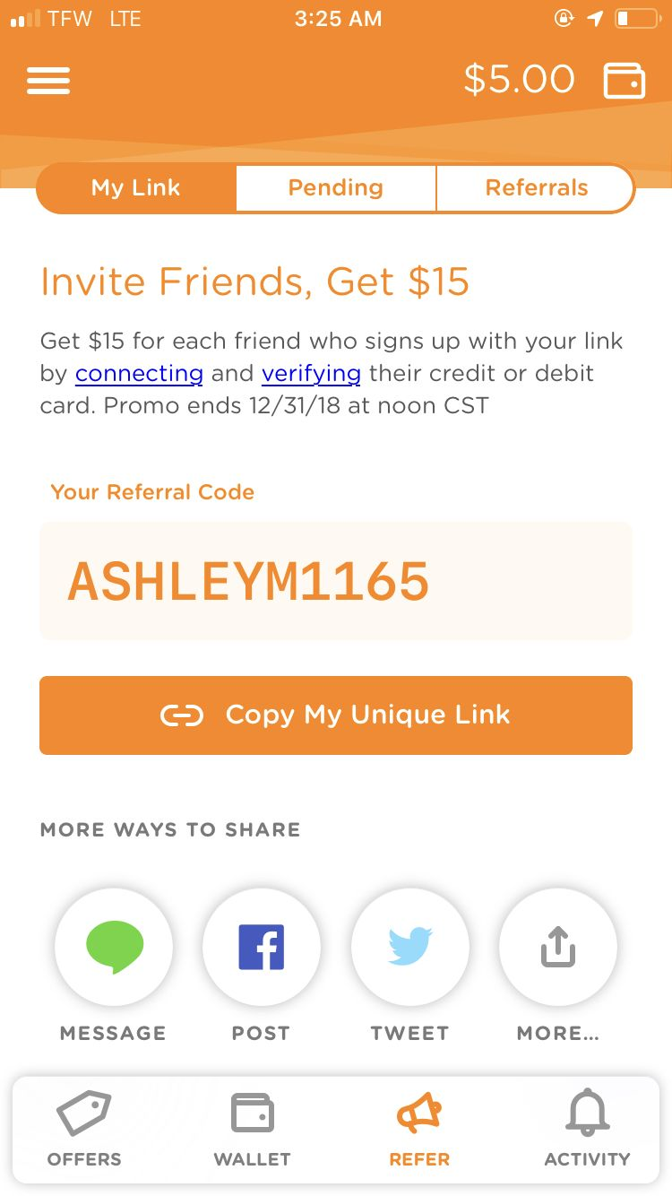 Download dosh in play store use my referral code link any