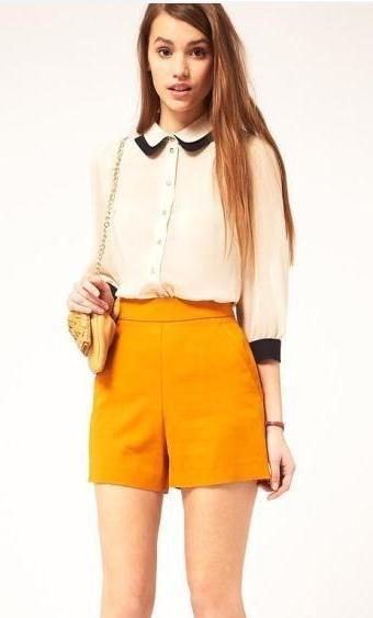 70dce6ce52fe7f Vintage Lapel Chiffon Three Quarter Length Shirt. I could wear this look to  church!