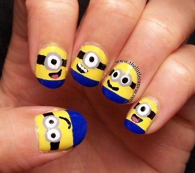 cute cartoon nail art #nail #art