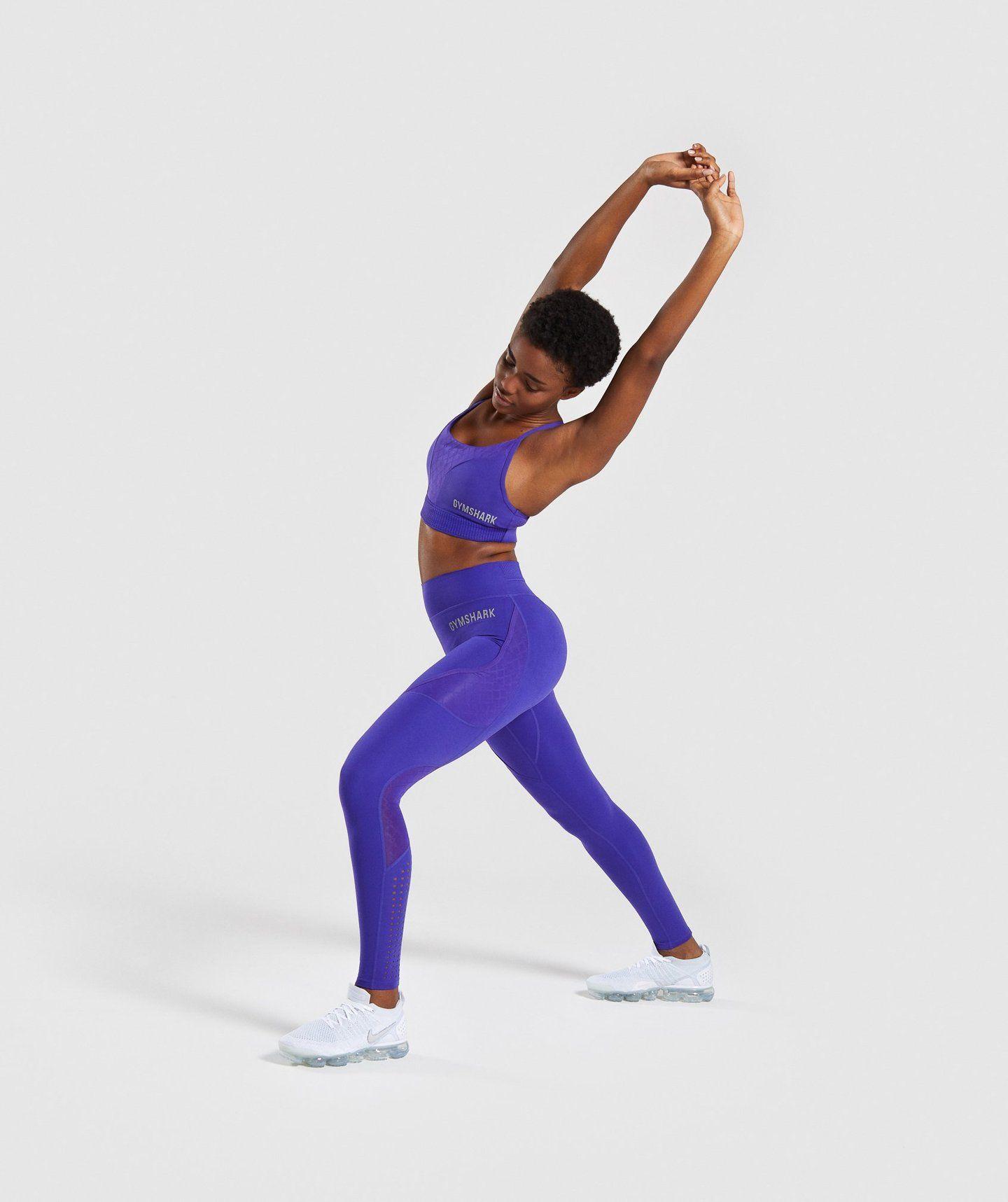 681a9e1818437 Gymshark Geo Mesh Leggings - Indigo | 女性时尚 | Mesh leggings ...