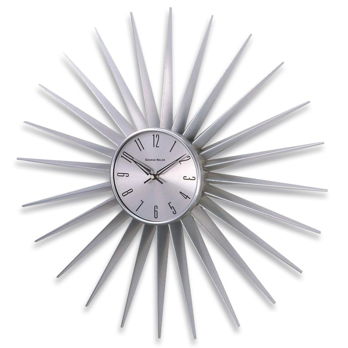 The Silver Sunray Wall Clock Makes A Marvelous Addition To Your