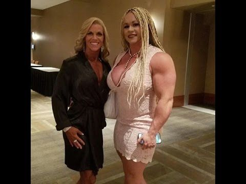 Gorgeous Fbb Aleesha Young Flexing Huge Muscles 18 Only Youtube