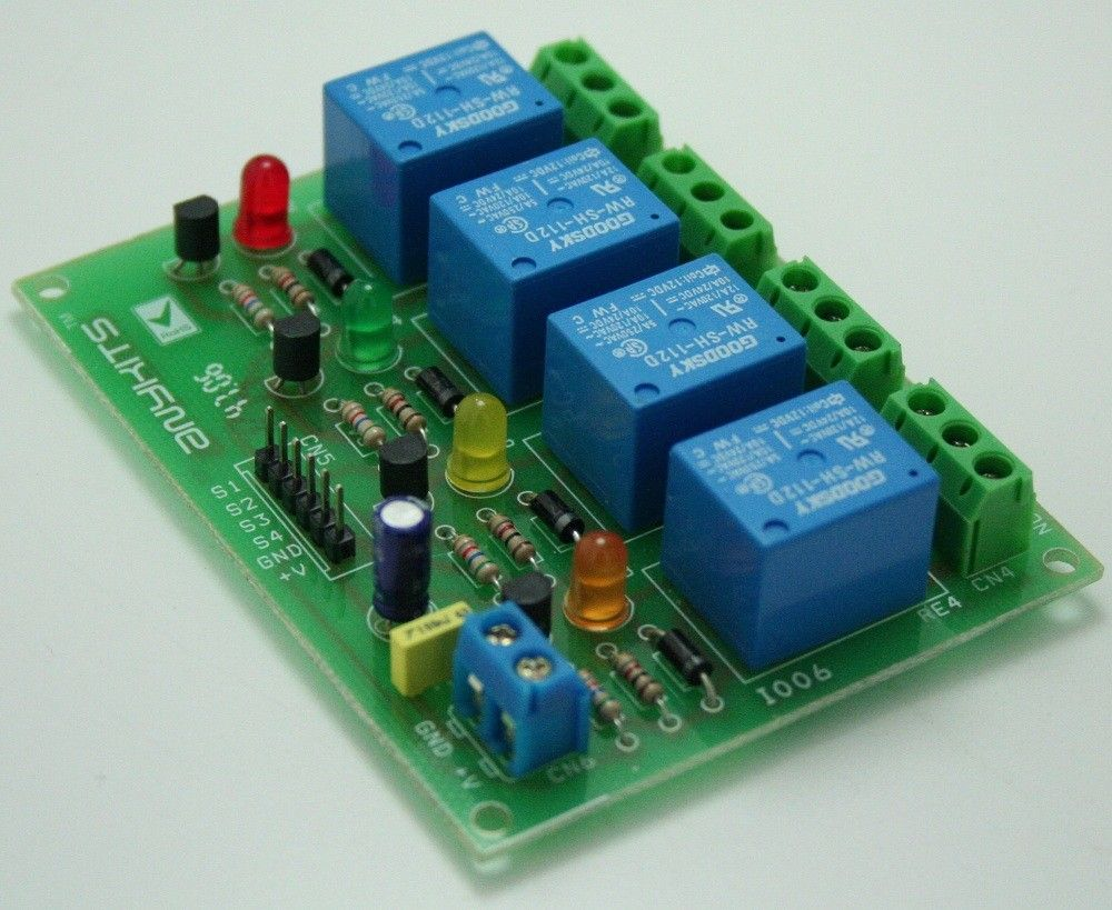 4 Channel Relay Board (With images) Relay, Electronics
