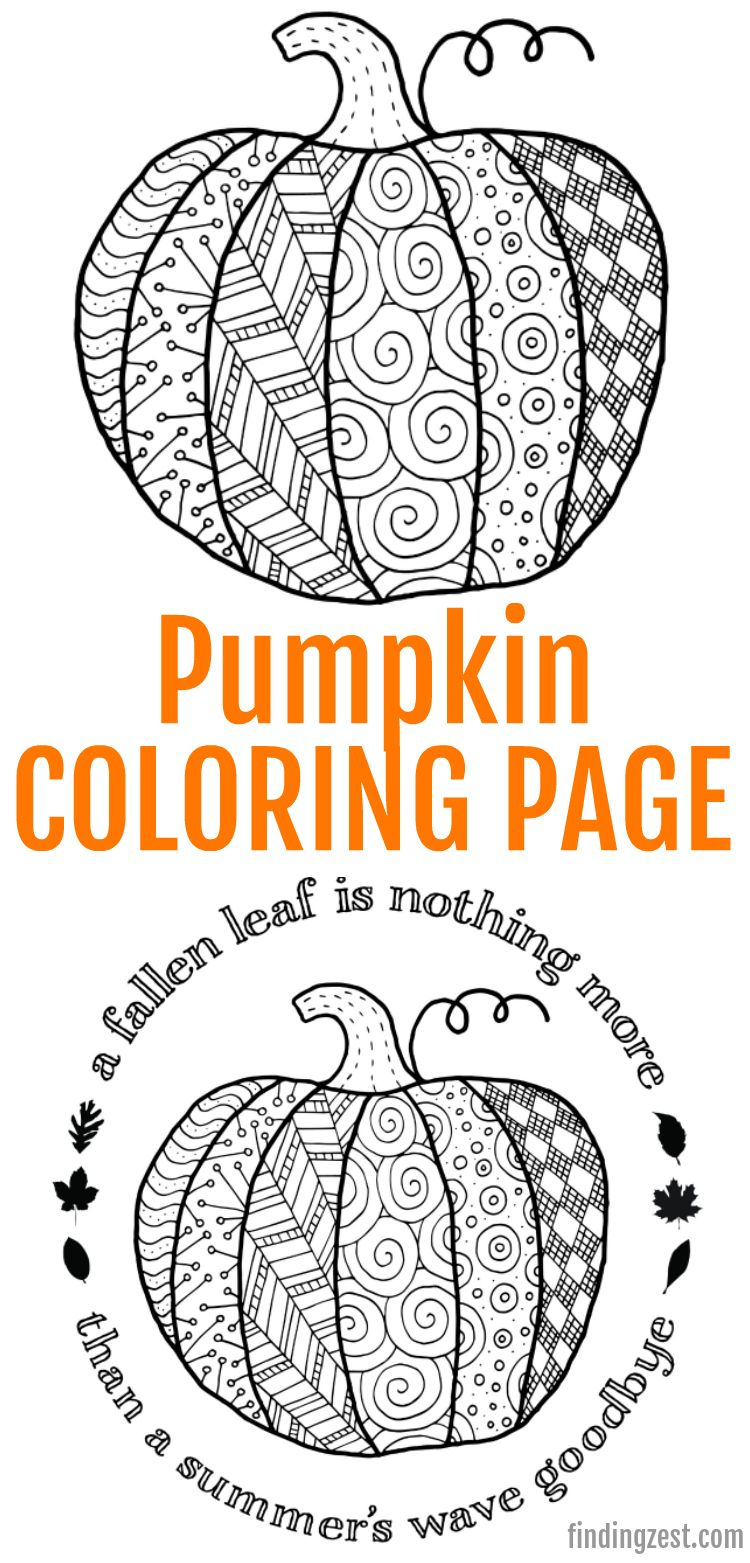 This Pumpkin Coloring Page Printable Is Available For Free