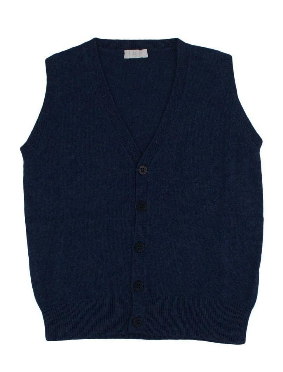 e9b151449 Navy blue boys slipover cardigan from Il Gufo