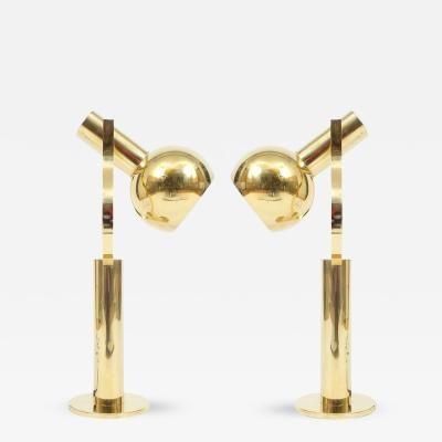Staff Leuchten Pair Articulate Brass Desk Lamps By Staff