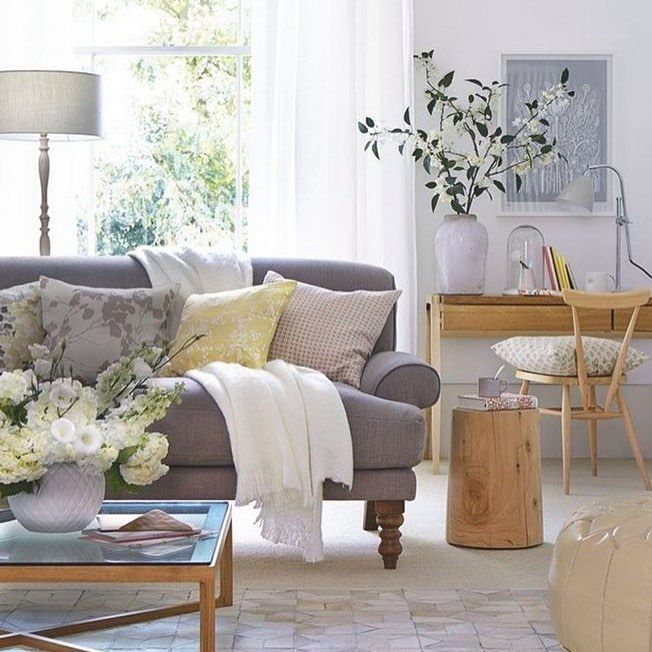 Delicieux White Walls, Soft Grey Upholstery And Pale Wood Furniture Create A Relaxed  And Welcoming Look. Choose A Classic Sofa As The Centrepiece, Then  Introduce ...