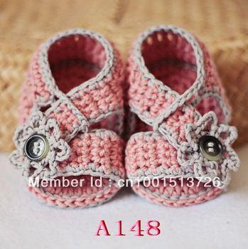babyslofjes haakpatroon- diagonaal riem haak sandalen 80 paar gratis ...