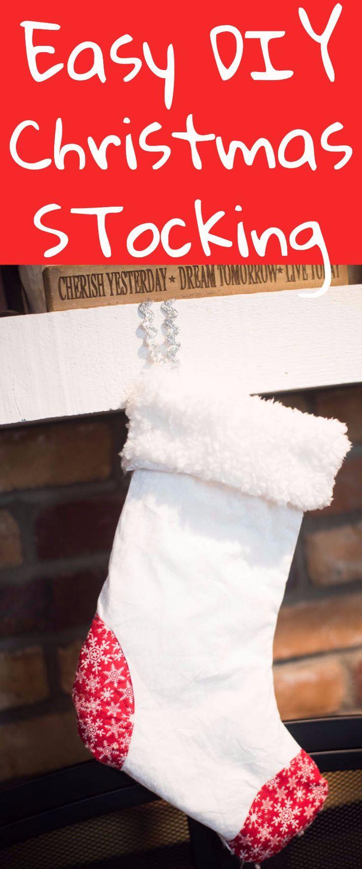 EASY DIY Christmas Stocking   Cricut Maker   Pinterest   Diy ...
