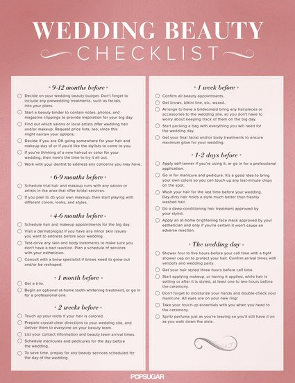 Download the Ultimate Wedding Beauty Planning Checklist! Wedding - wedding list