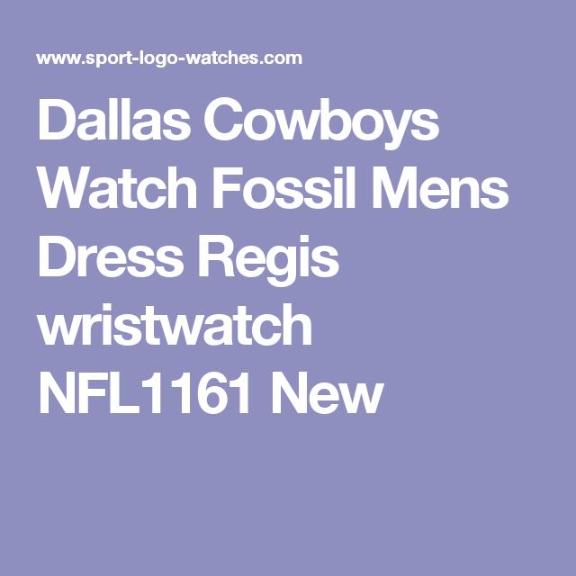 Dallas Cowboys Watch Fossil Mens Dress Regis wristwatch NFL1161 New