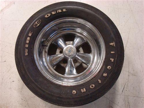 Old School Cragar Wheel And Firestone F60 15 Wide Oval