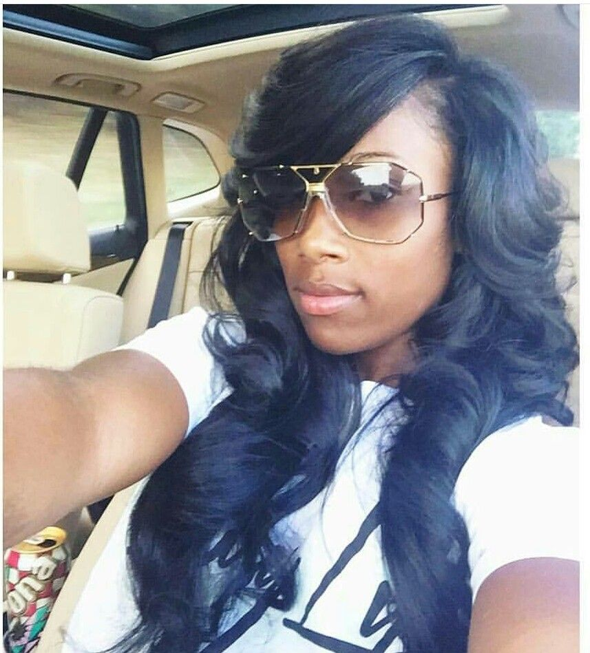 Side Part With Bang Sew In Hairstyles Weave Hairstyles