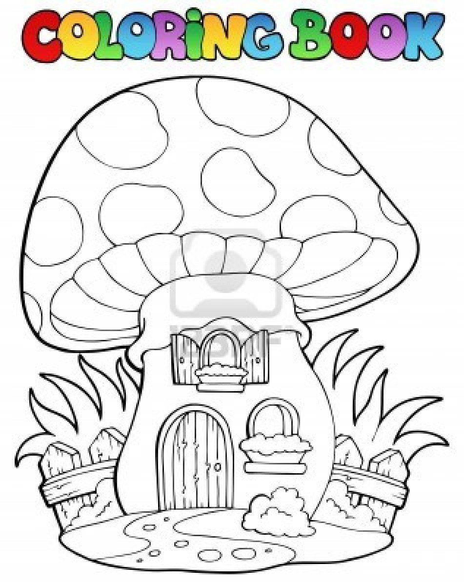 Stock Vector Coloring books, Coloring pages, House