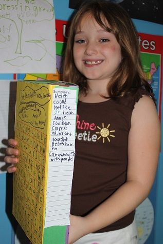 Possible activity cereal box book report helen keller possible activity cereal box book report ccuart Gallery