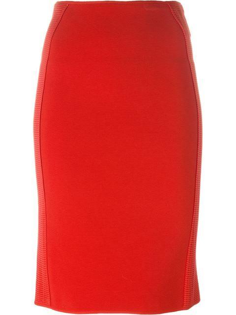 GIORGIO ARMANI Knit Pencil Skirt. #giorgioarmani #cloth #skirt