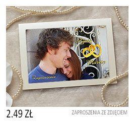 Zaproszenia ślubne Ze Zdjęciem Cena 249 Zaproszenia Pinterest