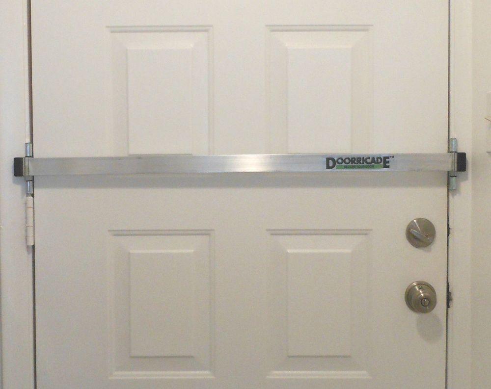Doorricade Security Door Bar Most Effective And Easiest To Install Ebay Security Door Door Lock Security Sliding Glass Door