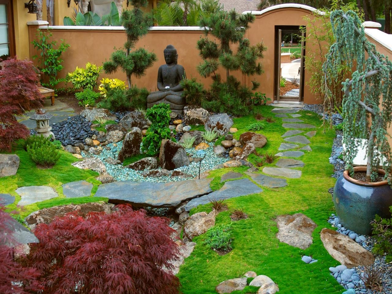 Luxurious Zen Garden Retreat Garden features Gardens and Garden