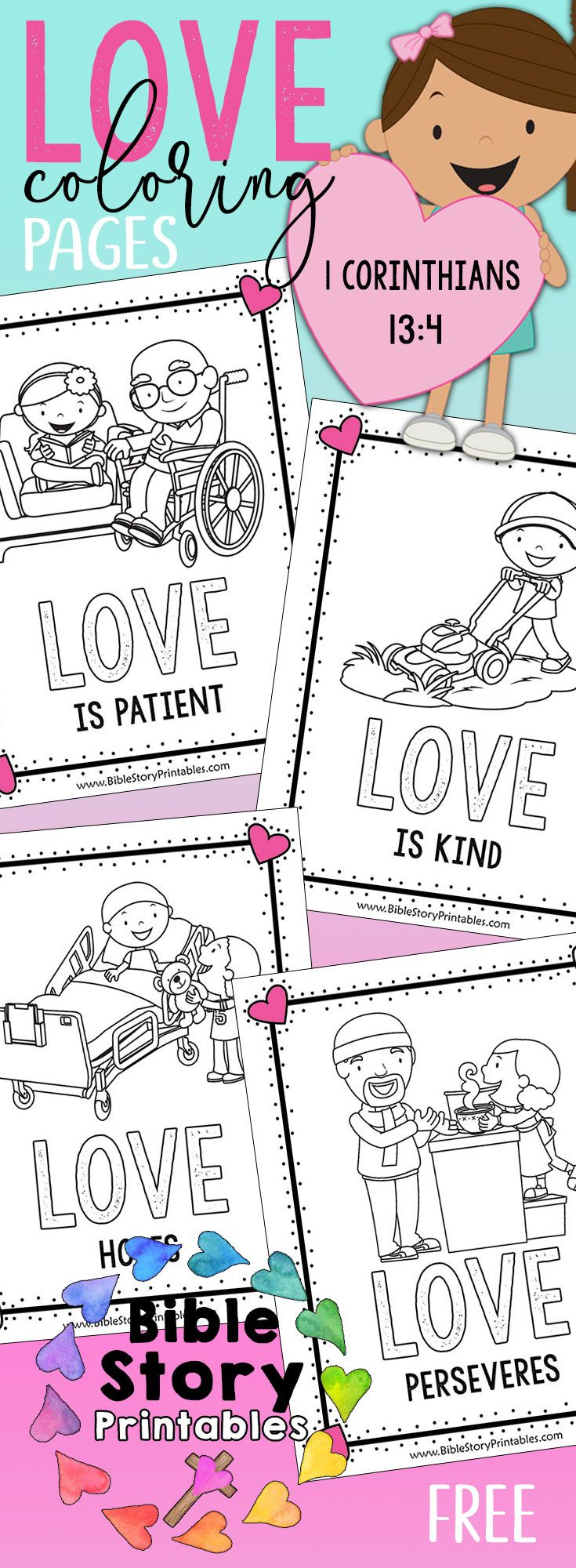Free Valentines Day Bible Coloring Book Free Valentines Day