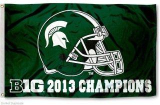Michigan State 2013 Big Ten Champs Flag Michigan State Michigan State University College Flags