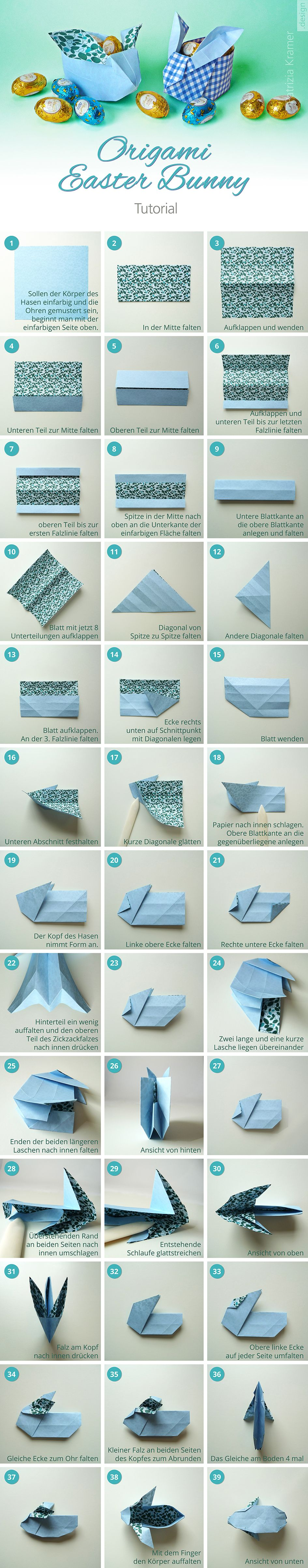 origami easter bunny tutorial easter ostern pinterest tutorials origami and bunnies. Black Bedroom Furniture Sets. Home Design Ideas