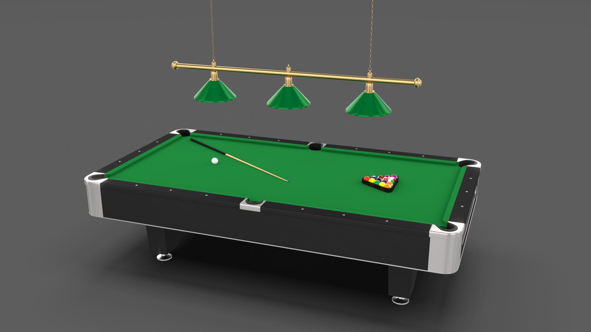 8 Ball Pool Table Setting Pool Table Pool Balls Table Settings