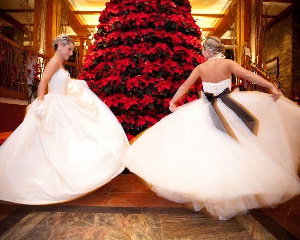 Twin Sisters Winter Wedding Double Wedding Elegant Wedding Inspiration Stylish Wedding