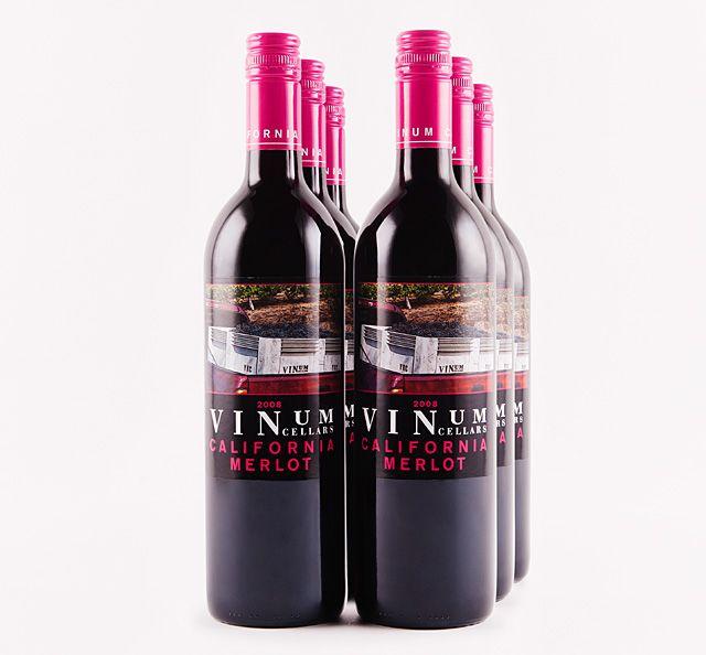 2008 Vinum Cellars California Merlot Half Case Lot18 Vinum Merlot Alcoholic Drinks