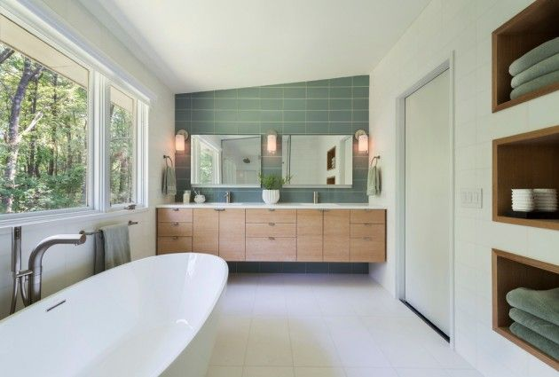 25 Stunning Mid Century Bathroom Design With Images Mid Century Modern Bathroom Modern Bathroom Design Modern Bathroom Tile