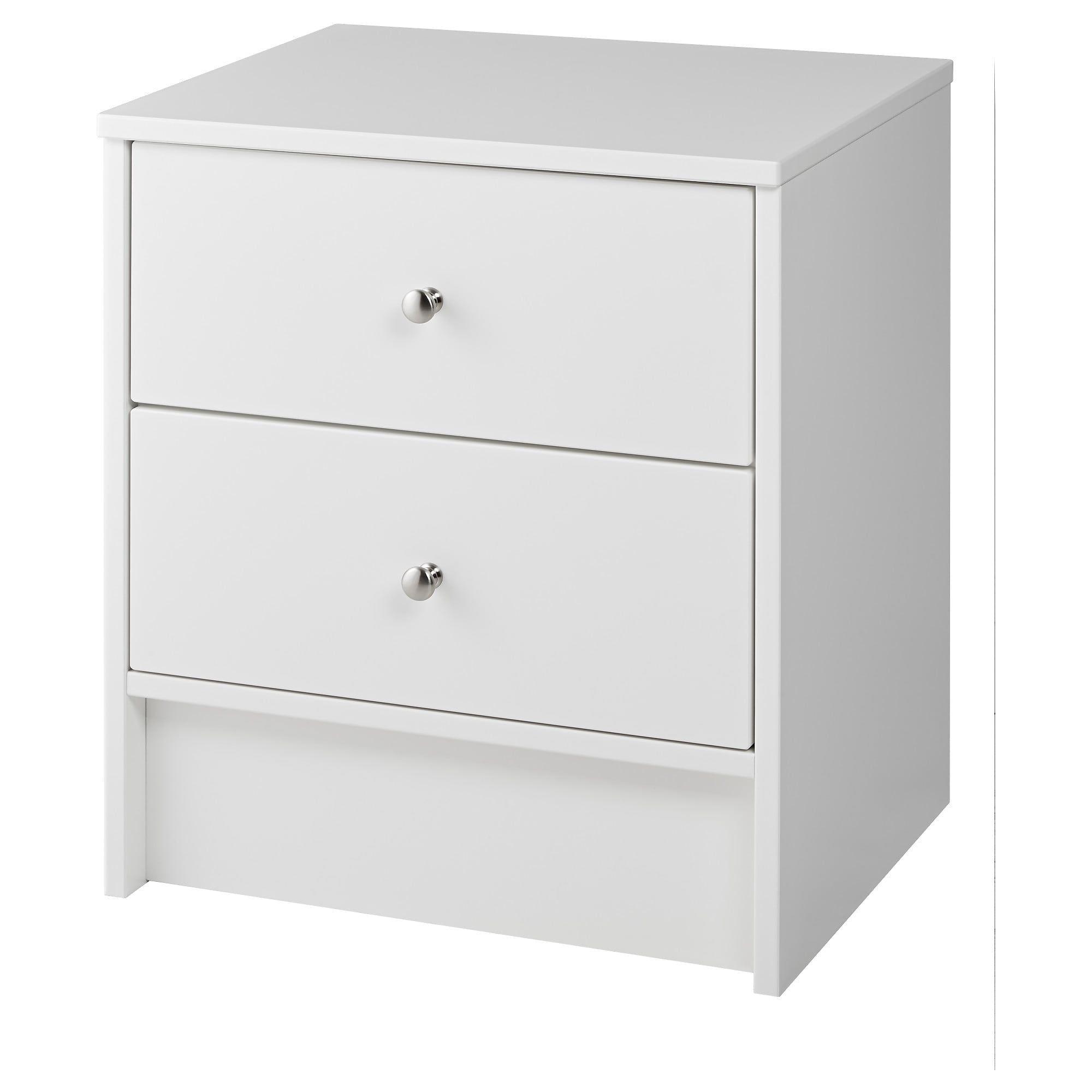 Dyfjord Nightstand White Ikea