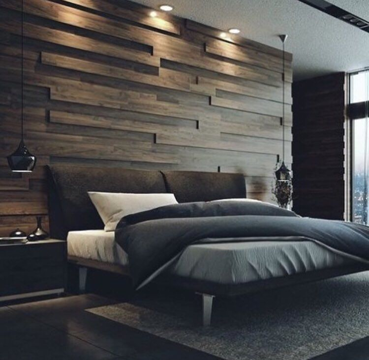 Loft Modern Bedroom Design Ideas: _ The Wooden Wall Here Looks Sensational! What Do You