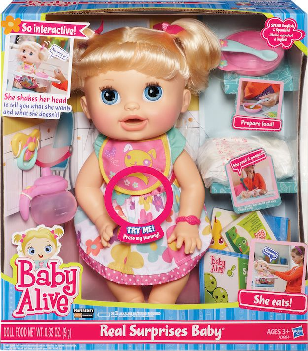 This Baby Toy That Can Speak 12 Different Languages Surprise Baby Baby Dolls Baby Alive