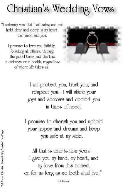 Pin By Mandi Fraga On Wedding Christian Wedding Vows Shades Of Grey Grey Quotes