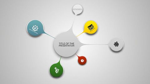 Prezi Template With Colorful Stains  Mindmap Add As Many As You