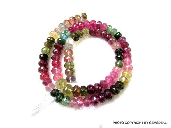 AAA Natural Crystal Faceted Rondelle Gemstone Beads 7mm