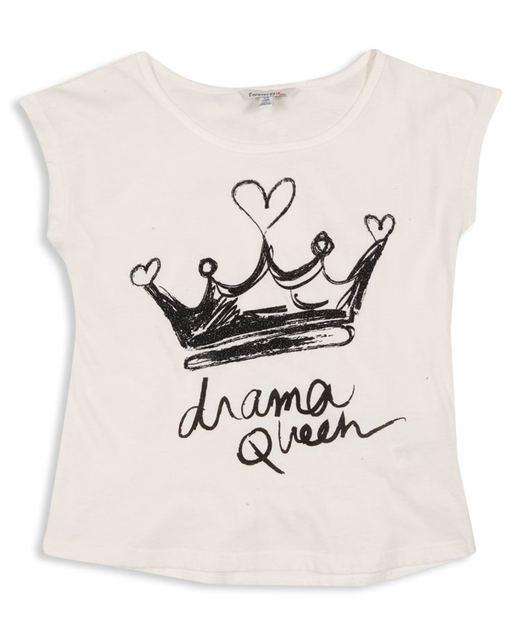 2e6e05b9d DRAMA QUEEN TEE forever 21 | t-shirt design | Baby shirts, Graphic ...