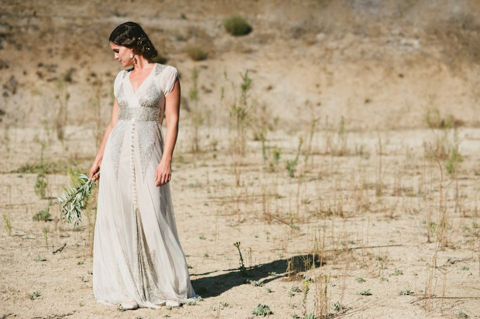 Anna Sui Sequins For A Barefoot Bride And Her Grecian Style Wedding | Love My Dress® UK Wedding Blog