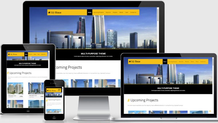 Free Bootstrap web   Free Real Estate HTML Templates