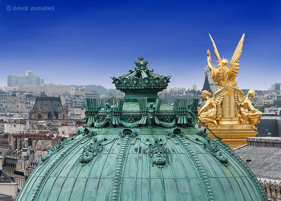 Opera Garnier's roof in Paris   See